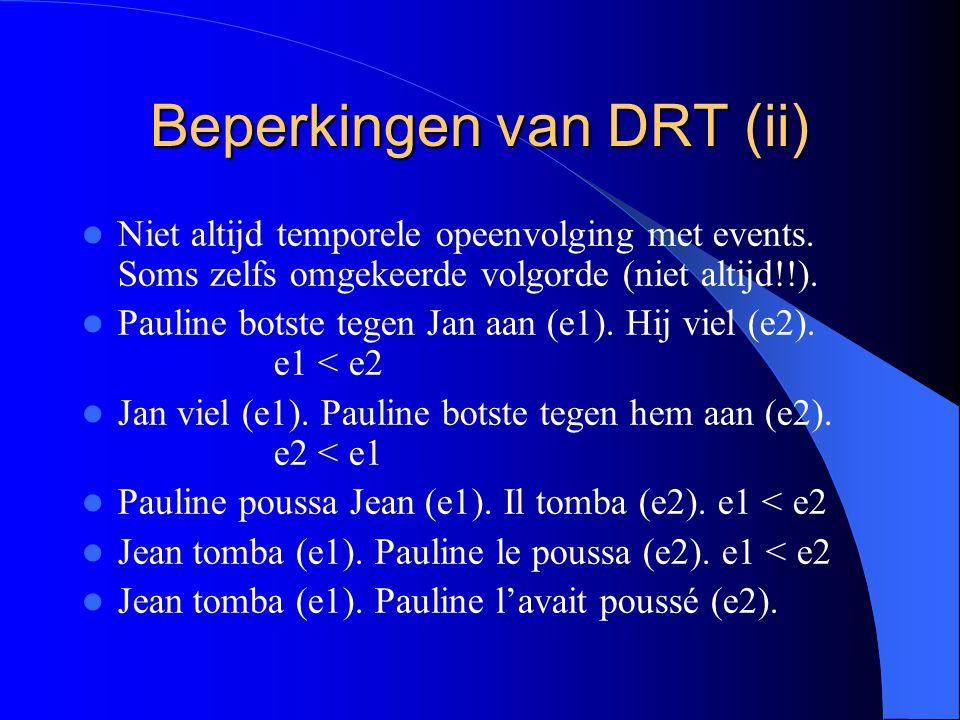 Beperkingen van DRT (ii)