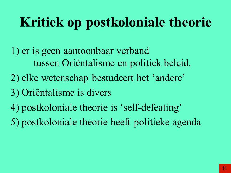Kritiek op postkoloniale theorie