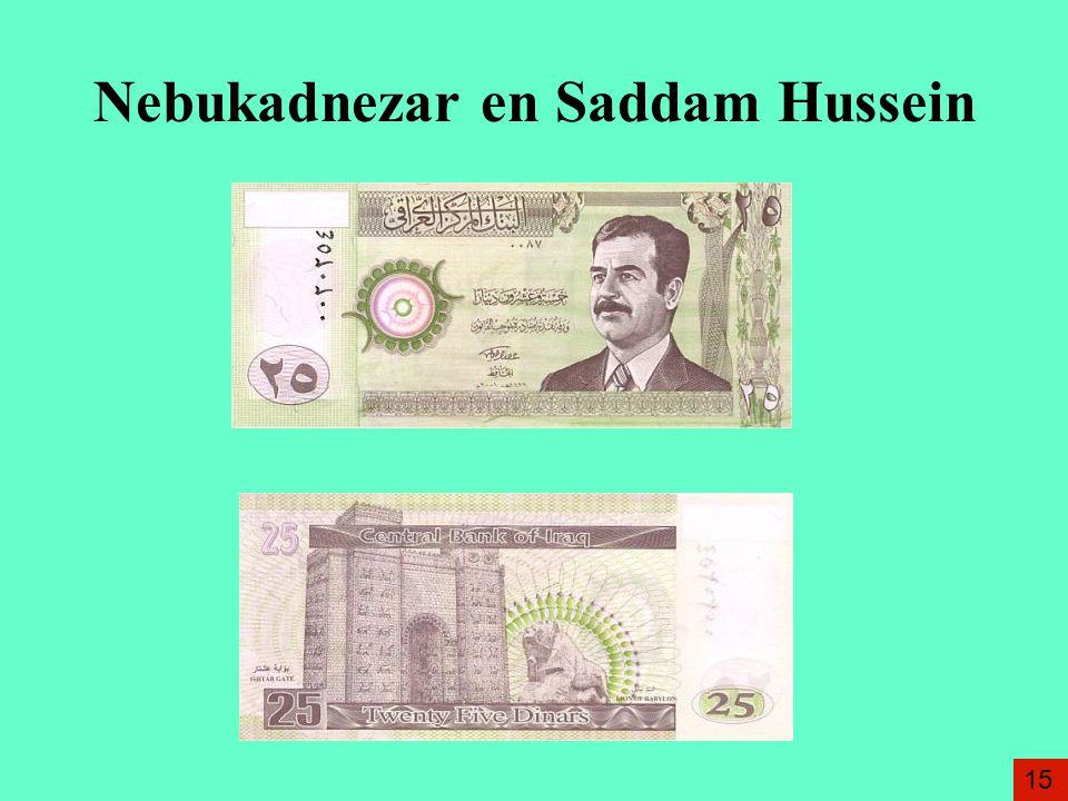 Nebukadnezar en Saddam Hussein