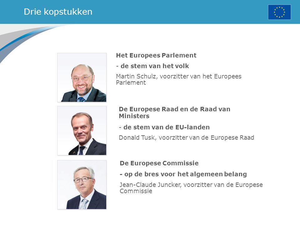 Drie kopstukken Het Europees Parlement - de stem van het volk Martin Schulz, voorzitter van het Europees Parlement