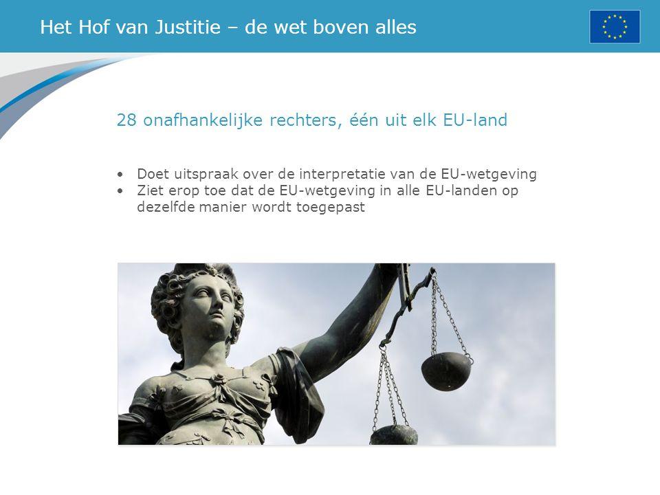 Het Hof van Justitie – de wet boven alles