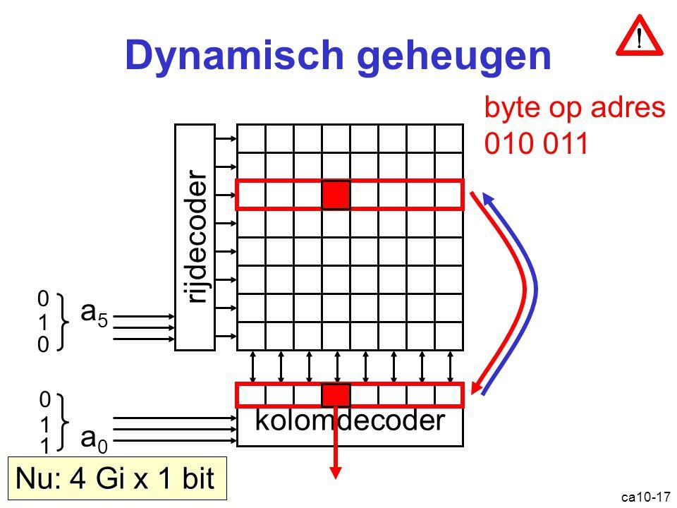 Dynamisch geheugen byte op adres 010 011 rijdecoder a5 kolomdecoder a0