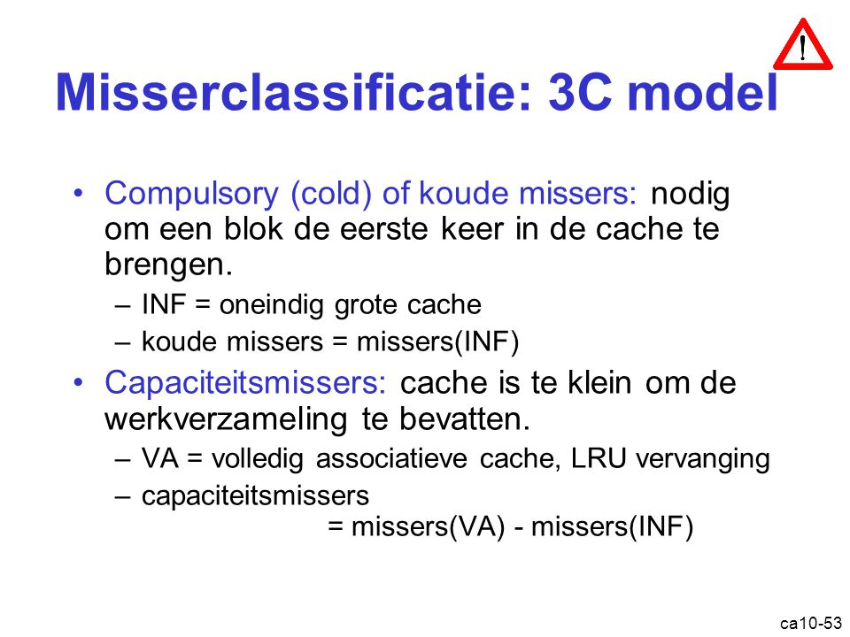 Misserclassificatie: 3C model