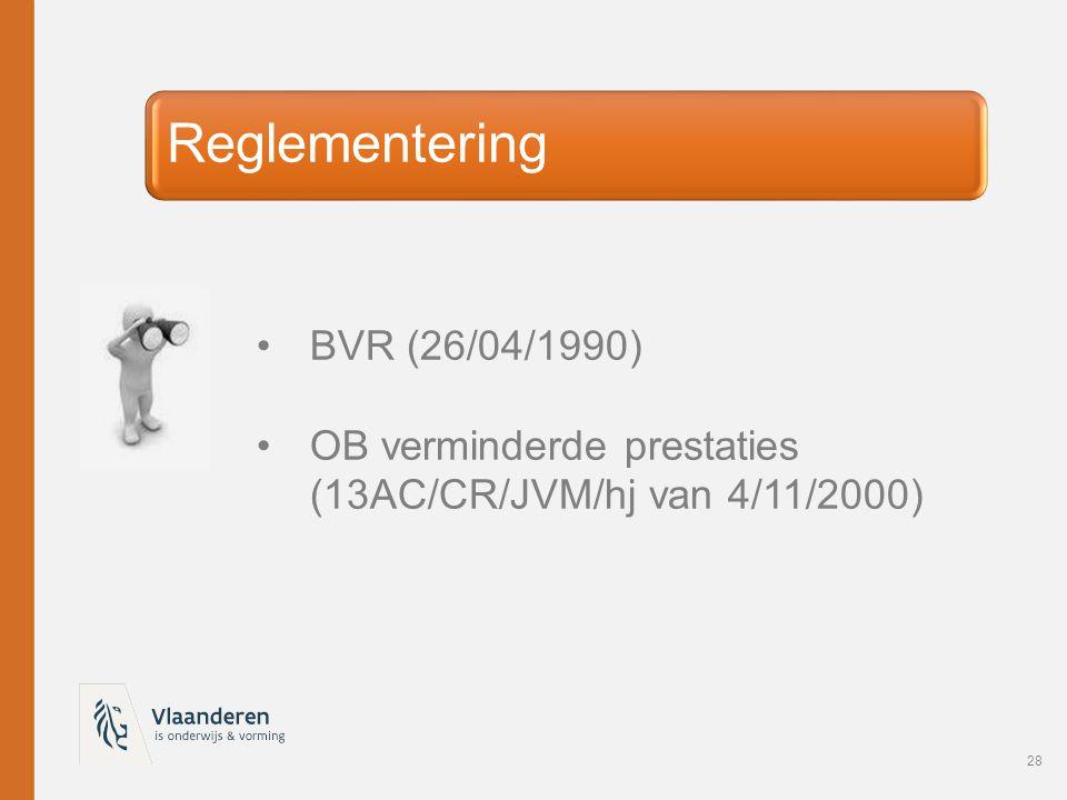 Reglementering BVR (26/04/1990)