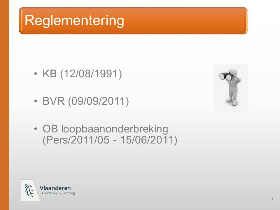 Reglementering KB (12/08/1991) BVR (09/09/2011)