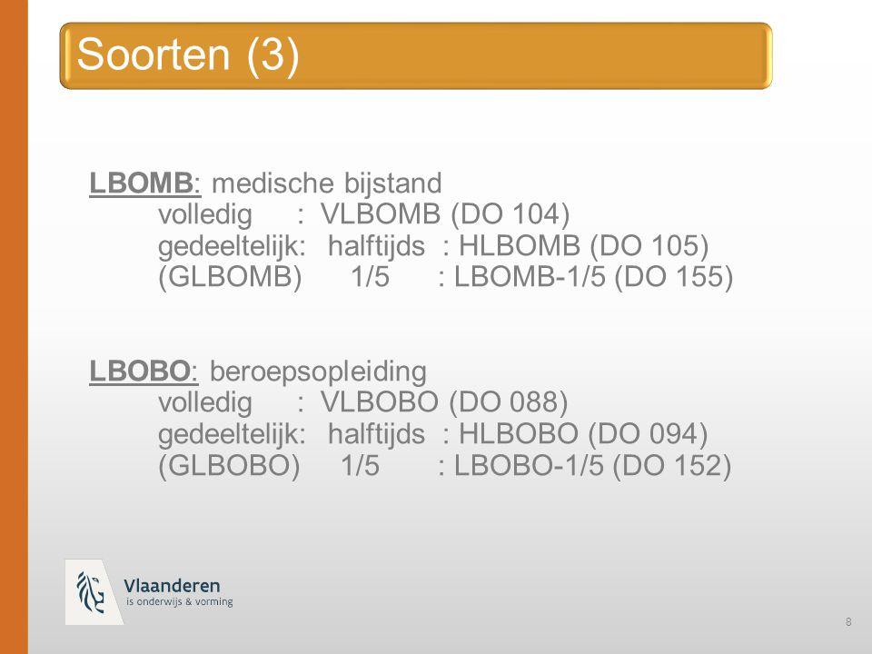 Soorten (3) LBOMB: medische bijstand volledig : VLBOMB (DO 104)
