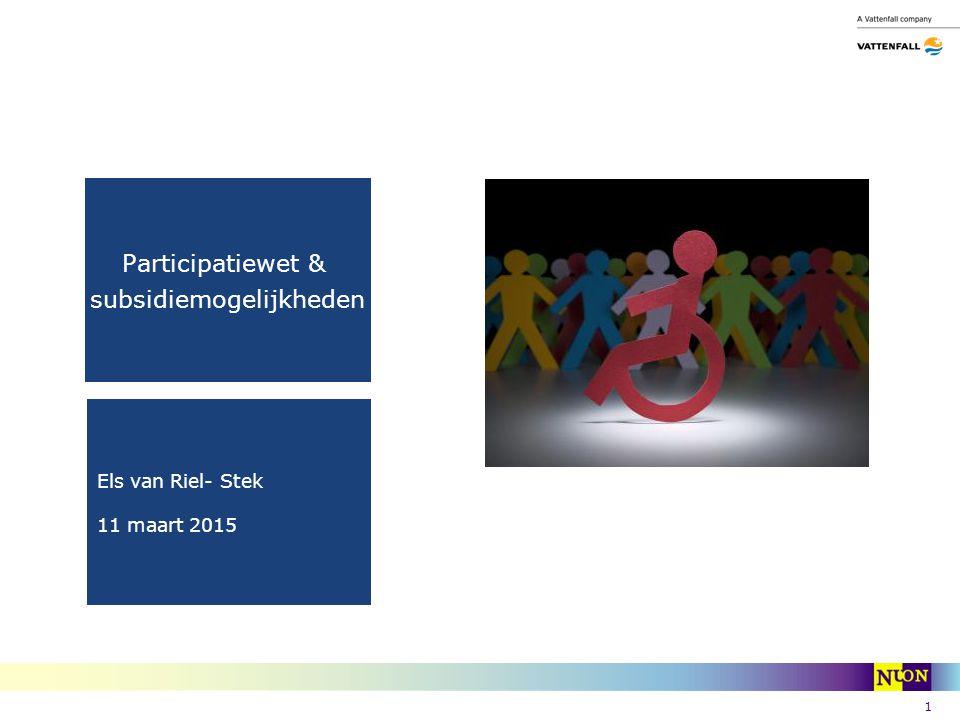 Participatiewet & subsidiemogelijkheden