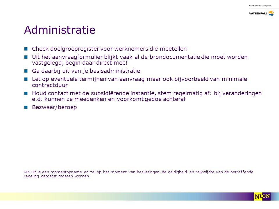 Administratie Check doelgroepregister voor werknemers die meetellen