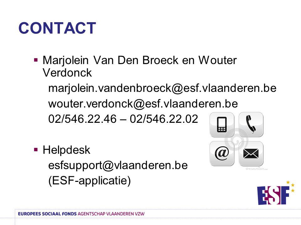CONTACT Marjolein Van Den Broeck en Wouter Verdonck
