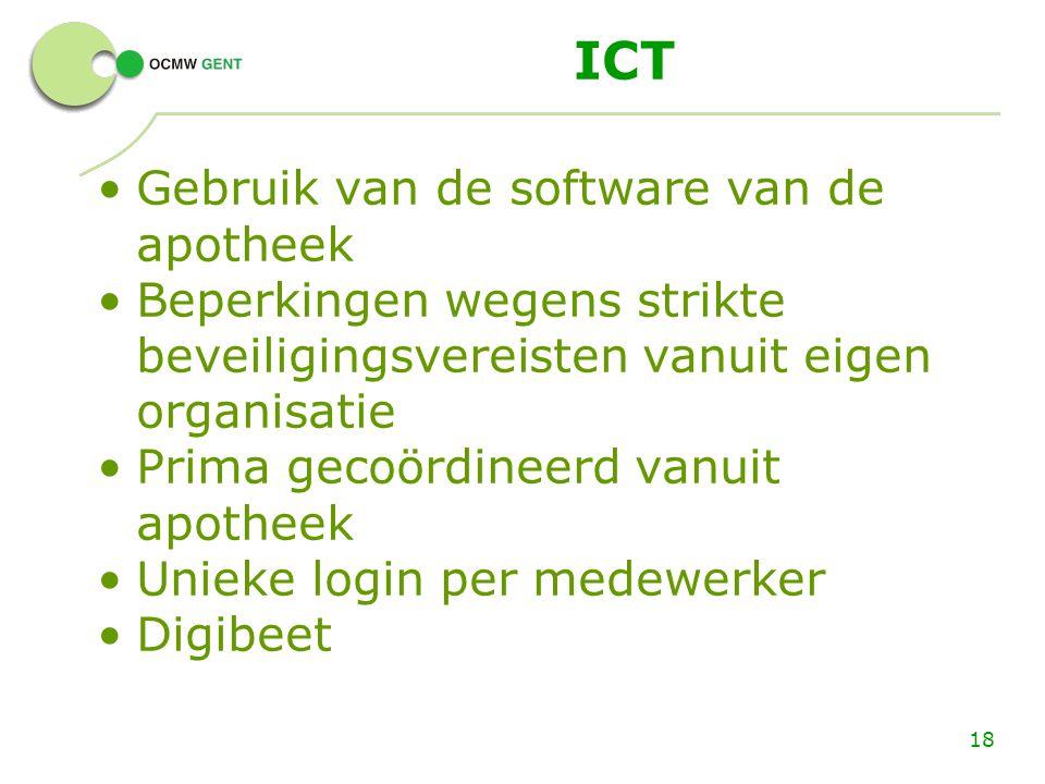ICT Gebruik van de software van de apotheek