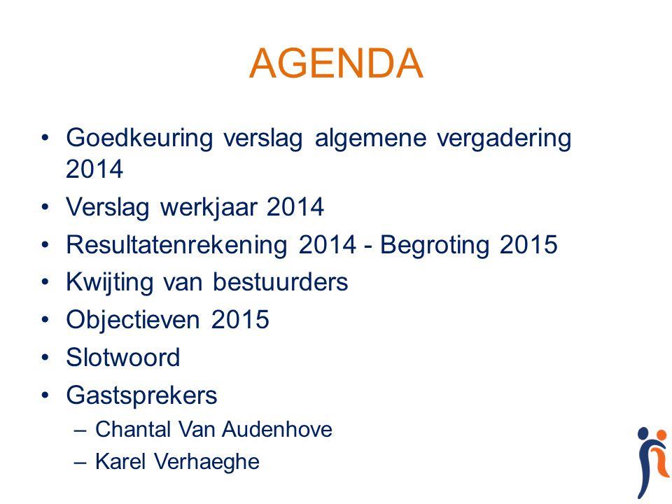 AGENDA Goedkeuring verslag algemene vergadering 2014