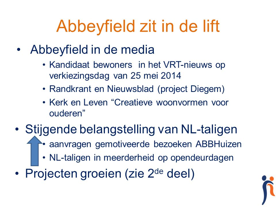Abbeyfield zit in de lift