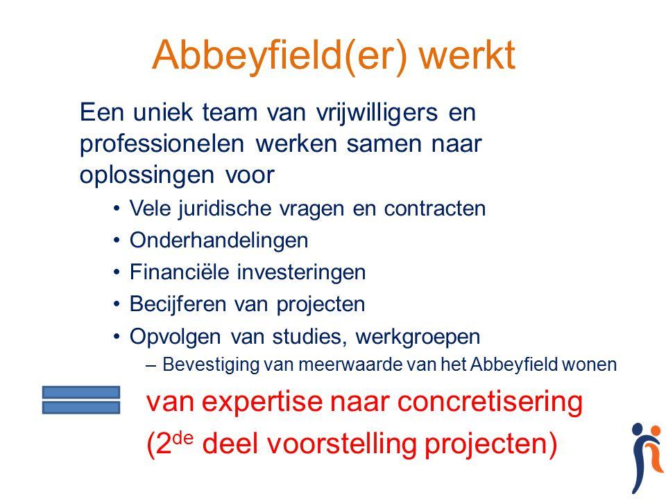 Abbeyfield(er) werkt van expertise naar concretisering