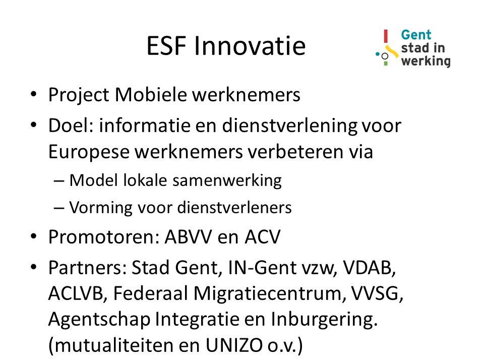 ESF Innovatie Project Mobiele werknemers
