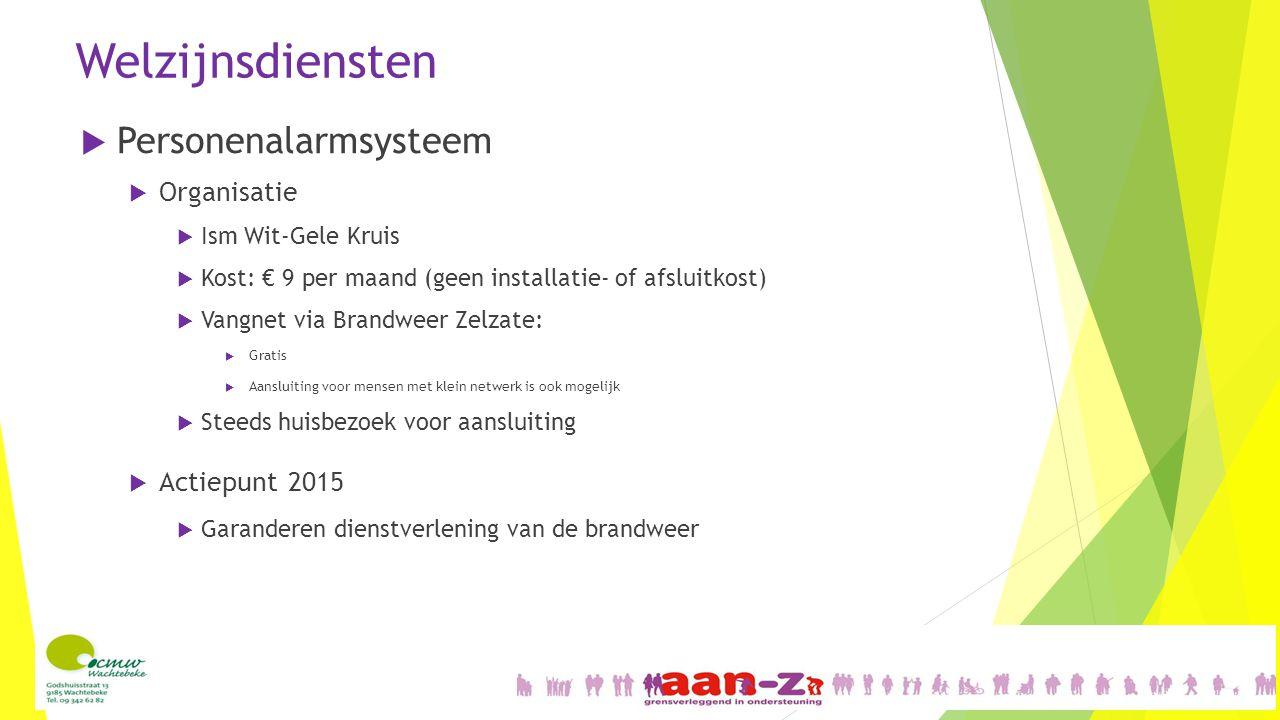 Welzijnsdiensten Personenalarmsysteem Organisatie Actiepunt 2015