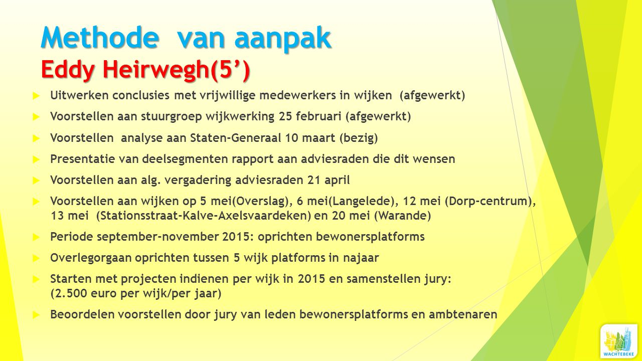 Methode van aanpak Eddy Heirwegh(5')