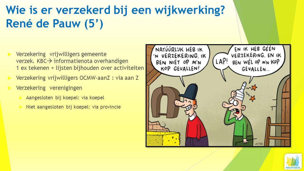 Wie is er verzekerd bij een wijkwerking René de Pauw (5')