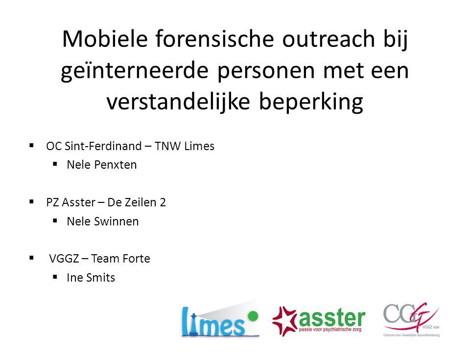 Mobiele forensische outreach bij geïnterneerde personen met een verstandelijke beperking