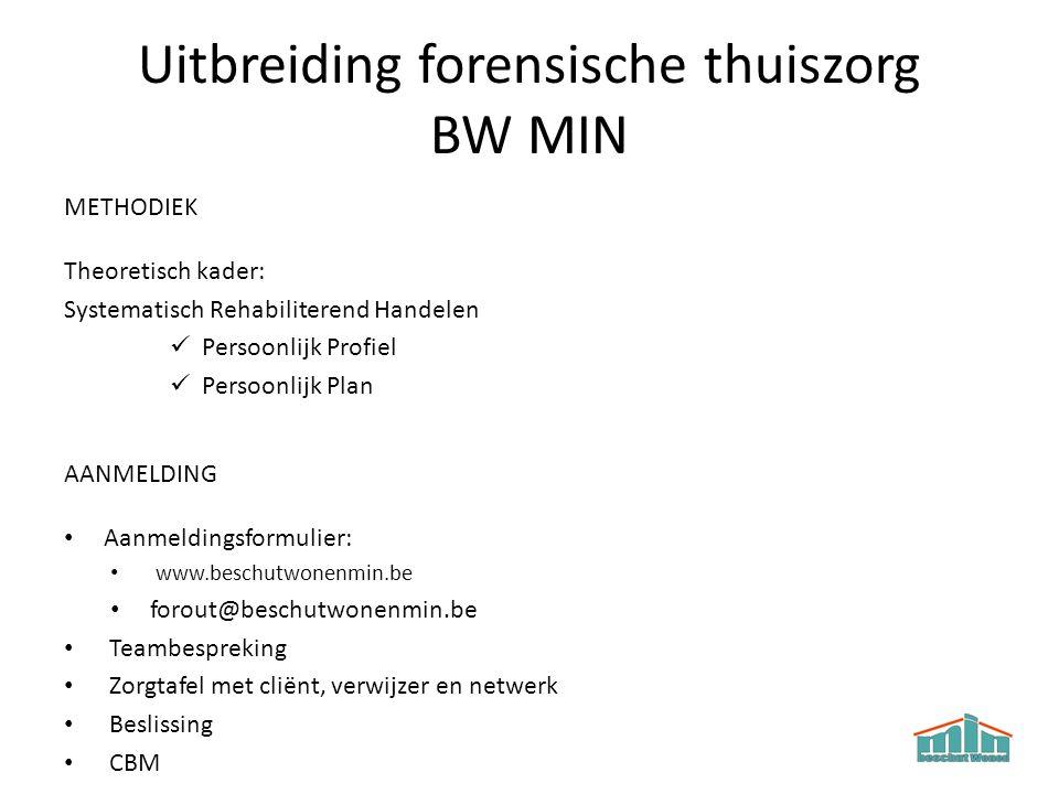 Uitbreiding forensische thuiszorg BW MIN