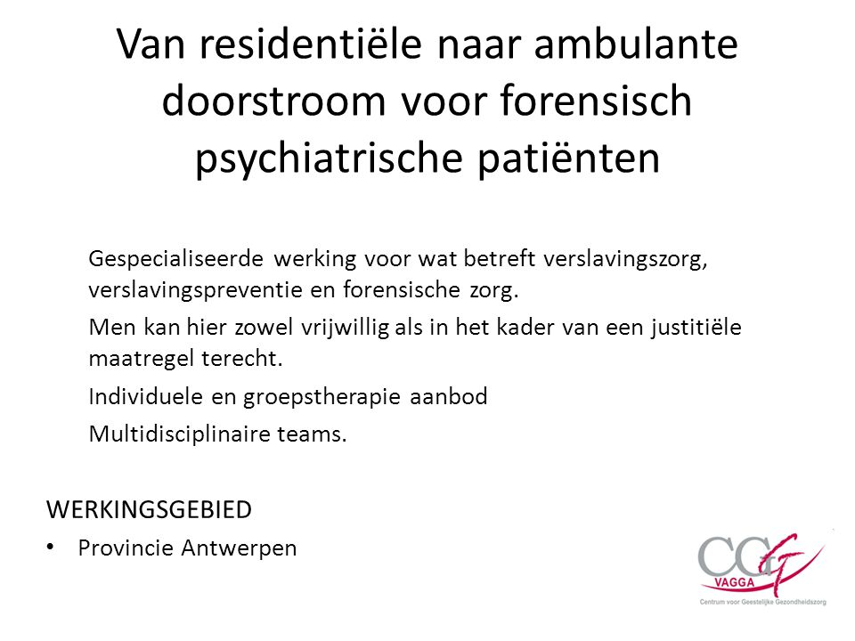 Van residentiële naar ambulante doorstroom voor forensisch psychiatrische patiënten