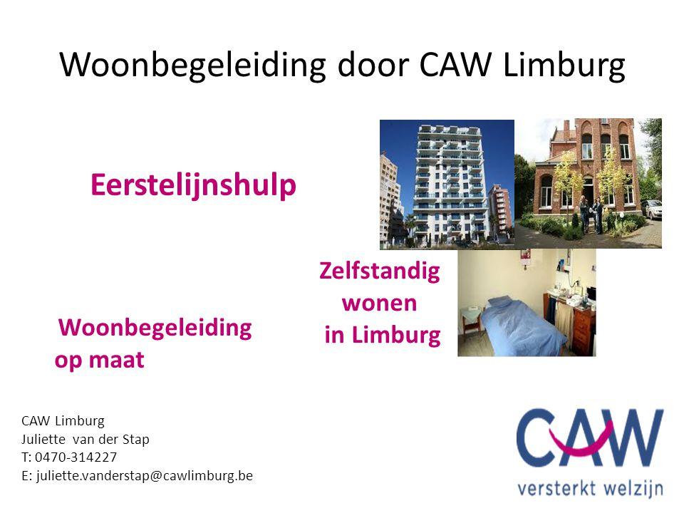 Woonbegeleiding door CAW Limburg