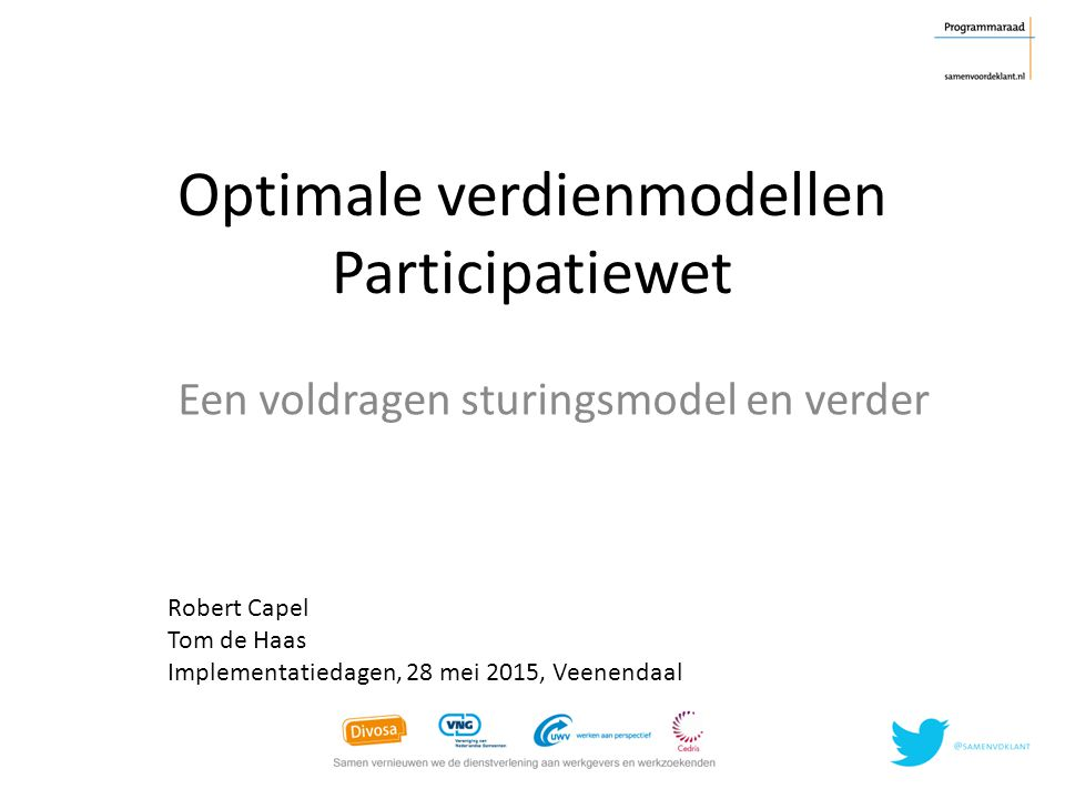 Optimale verdienmodellen Participatiewet