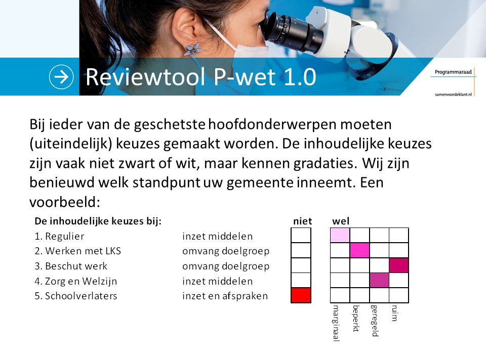 Reviewtool P-wet 1.0