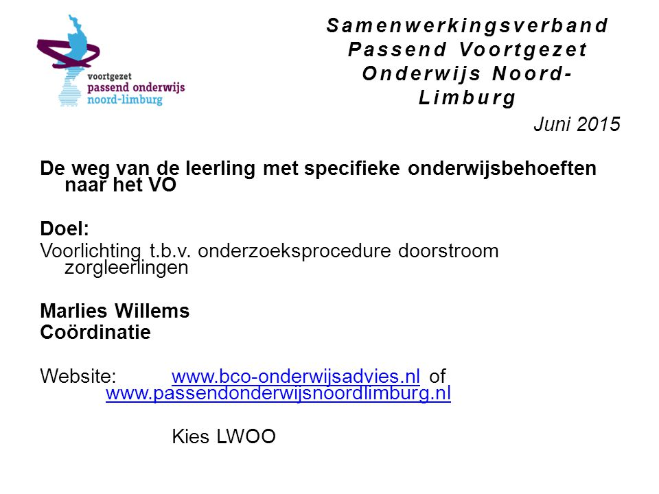 Samenwerkingsverband Passend Voortgezet Onderwijs Noord-Limburg