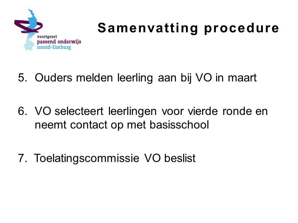 Samenvatting procedure