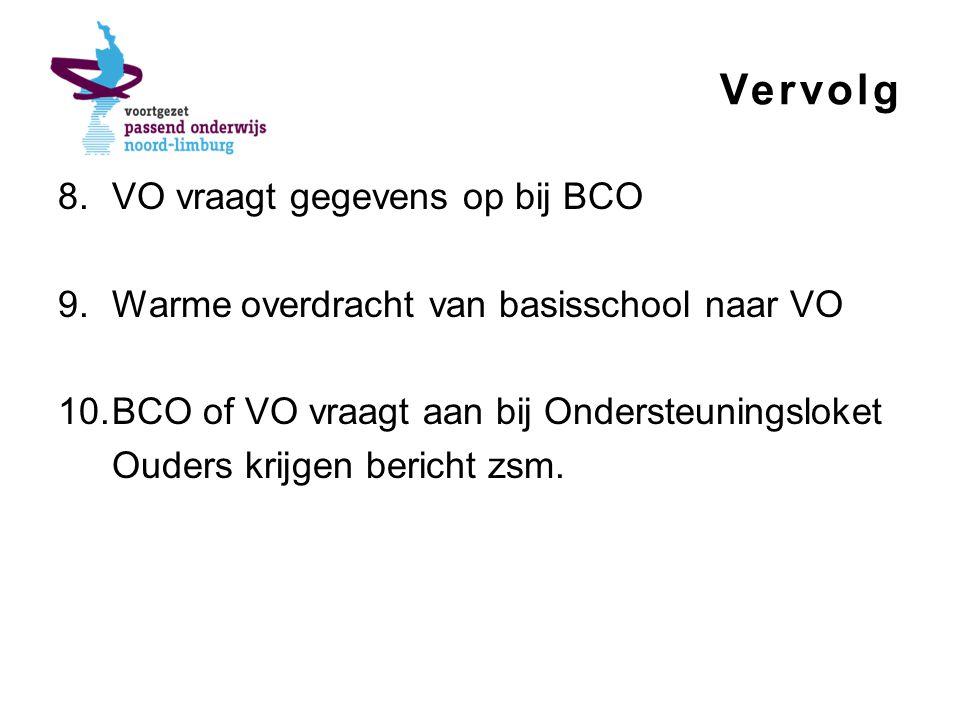 Vervolg VO vraagt gegevens op bij BCO