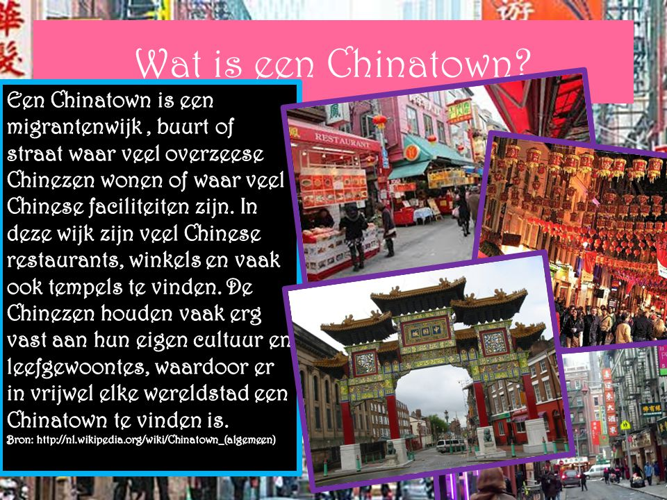 Wat is een Chinatown