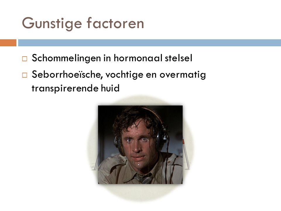 Gunstige factoren Schommelingen in hormonaal stelsel