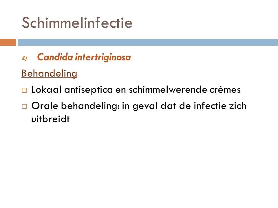Schimmelinfectie Candida intertriginosa Behandeling