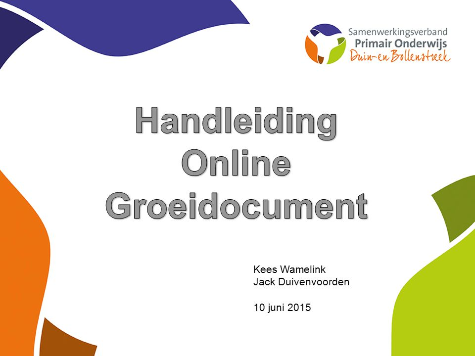 Handleiding Online Groeidocument