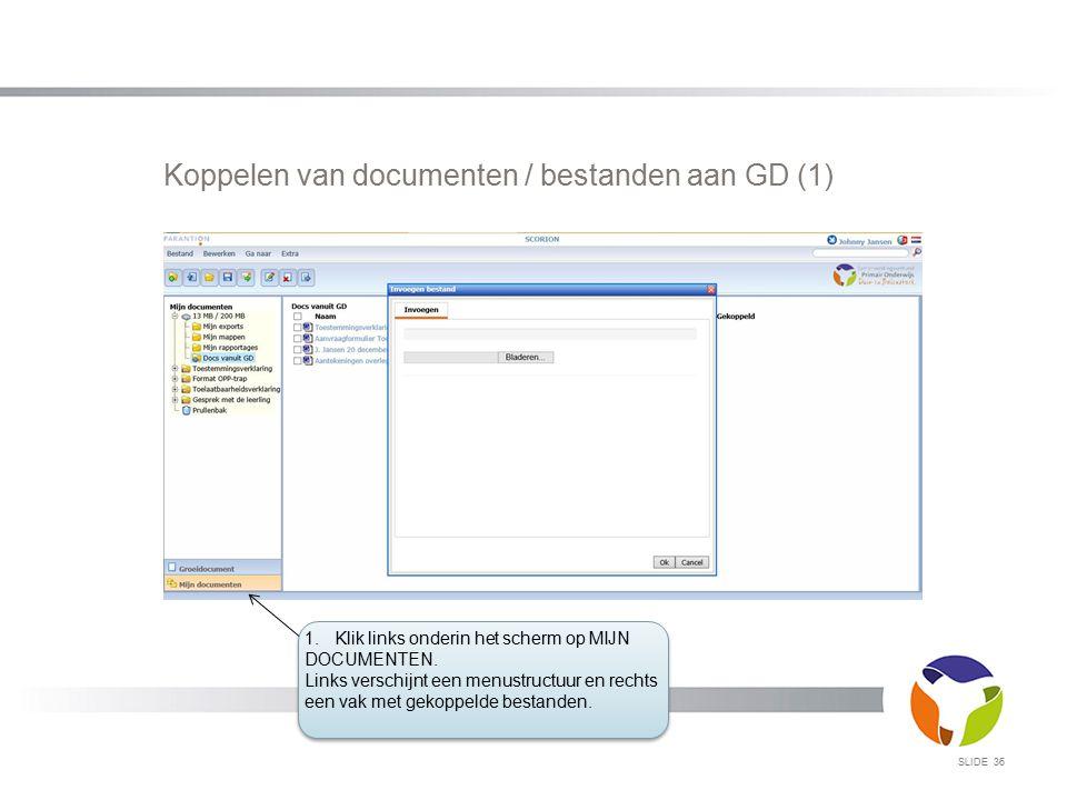 Koppelen van documenten / bestanden aan GD (1)