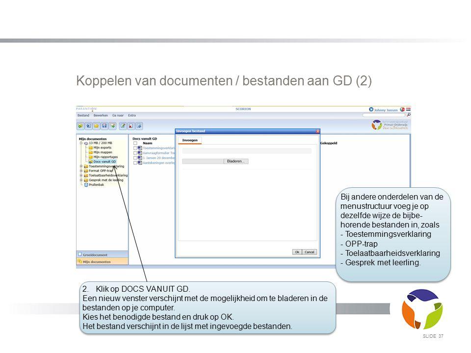 Koppelen van documenten / bestanden aan GD (2)