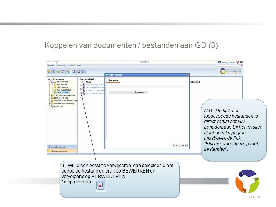 Koppelen van documenten / bestanden aan GD (3)