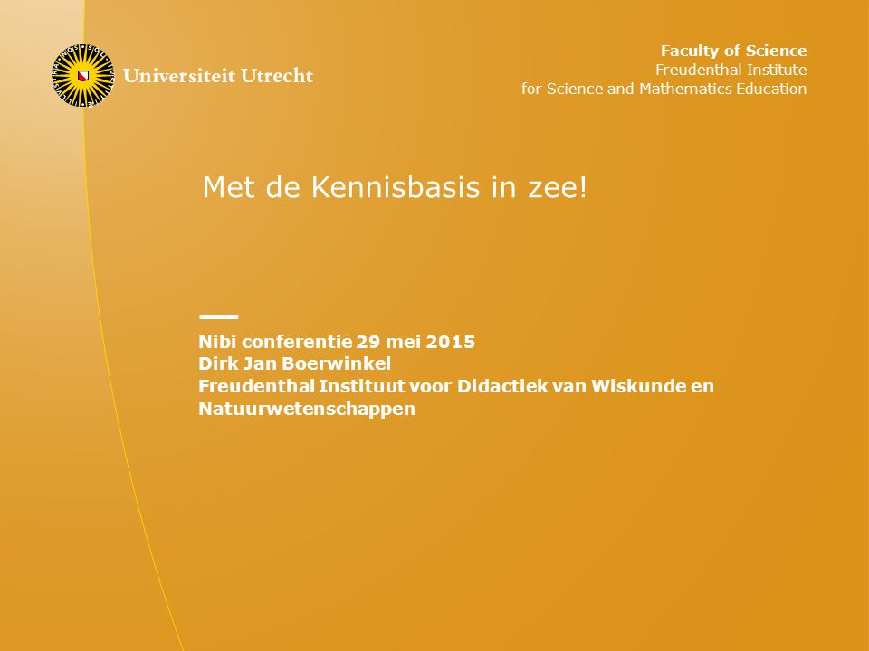 Met de Kennisbasis in zee!