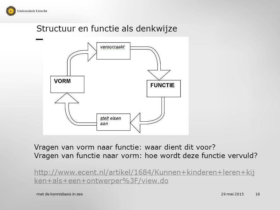 Structuur en functie als denkwijze