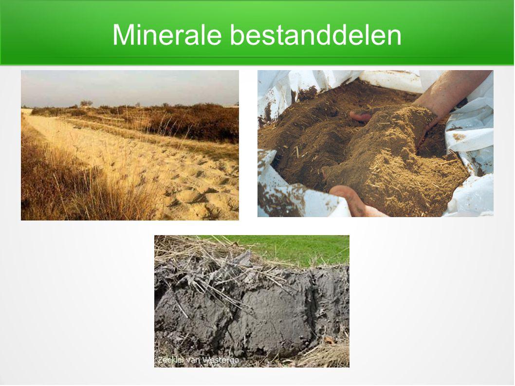 Minerale bestanddelen