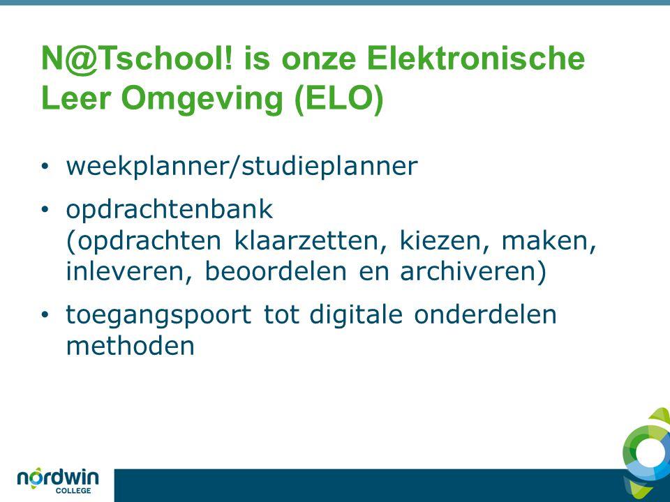 N@Tschool! is onze Elektronische Leer Omgeving (ELO)