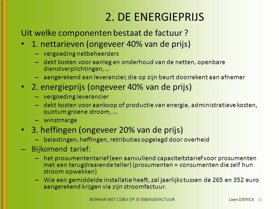 BESPAAR MET CD&V OP JE ENERGIEFACTUUR Leen DIERICK