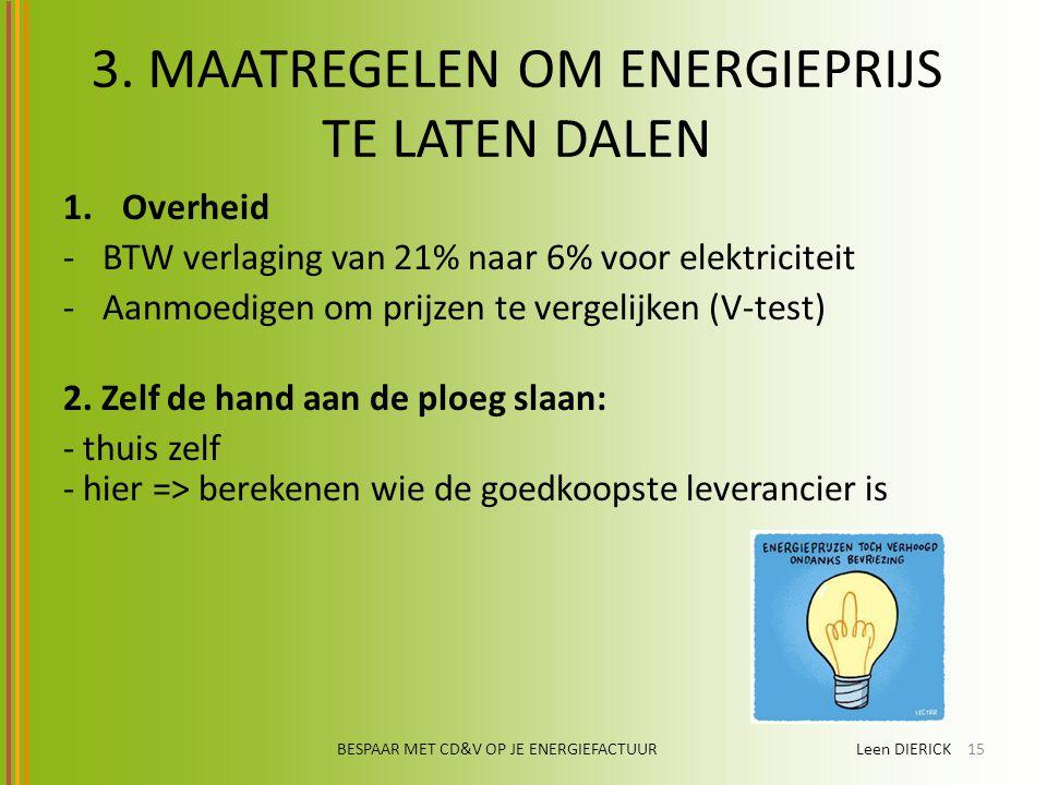 3. MAATREGELEN OM ENERGIEPRIJS TE LATEN DALEN