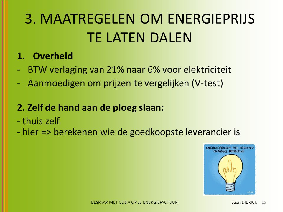 welke energieleverancier is de goedkoopste
