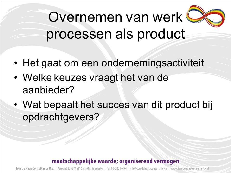 Overnemen van werk processen als product