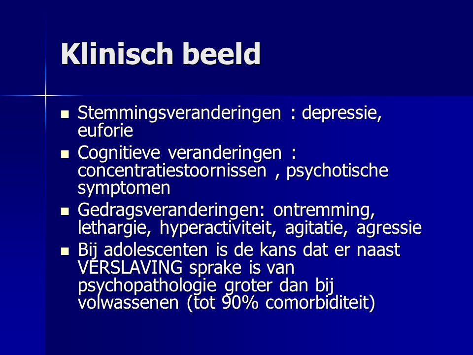 Klinisch beeld Stemmingsveranderingen : depressie, euforie