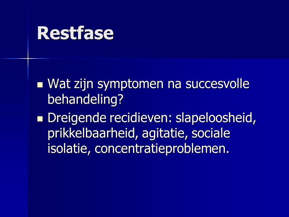Restfase Wat zijn symptomen na succesvolle behandeling