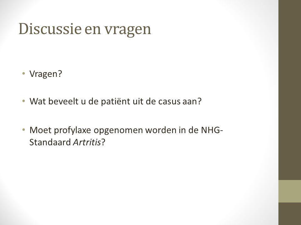 Discussie en vragen Vragen Wat beveelt u de patiënt uit de casus aan