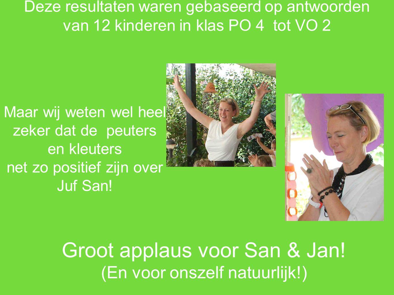 Groot applaus voor San & Jan!