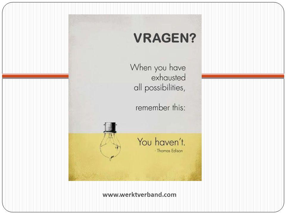 VRAGEN www.werktverband.com